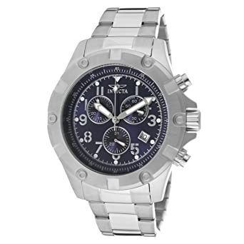 Invicta Mens 13614 Specialty Chronograph Blue Dial Stainless Steel Watch