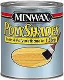 Minwax 617204444 PolyShades - Stain & Polyurethane in 1 Step, quart, Pecan, Gloss