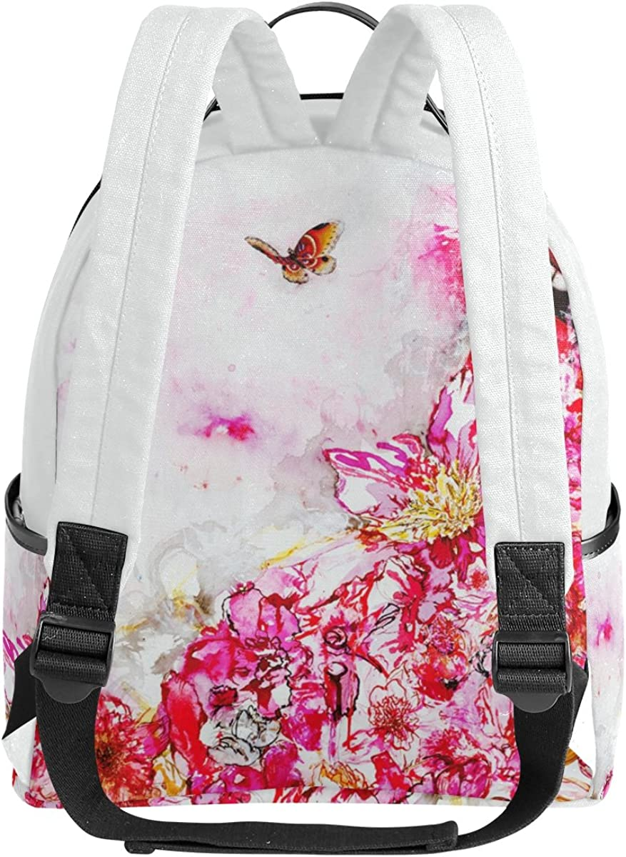 Mr.Weng Paint The Butterfly Printed Canvas Backpack For Girl and Children
