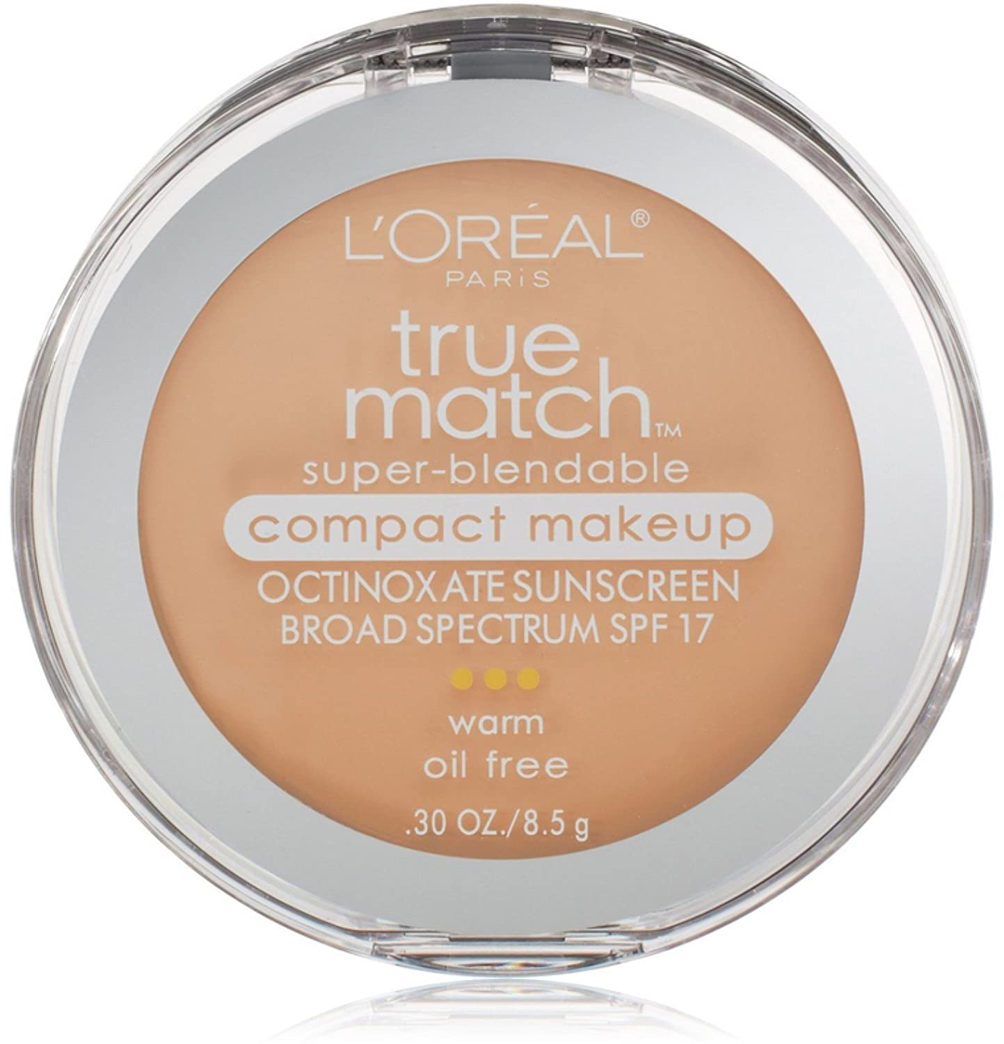 L'Oreal True Match Super-Blendable Compact Makeup, Light Ivory [W2], 0.30 oz (Pack of 2)