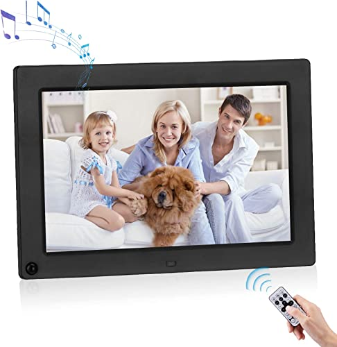 Powerextra 10.1 inch Digital Photo Frame 1280×800 Digital Picture Frame 16:9 IPS Screen Display HD Video Frame Support Motion Sensor and Photos Auto Rotate