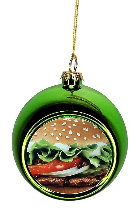 Max Wilder Hamburger Ornaments Green Bauble Christmas Ornament Balls - Amazon.com: Max Wilder Hamburger Ornaments Green Bauble Christmas