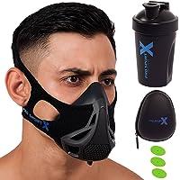 ProSportX Training Mask + Shaker Bottle + 3 Air Resistance Valves for Longer use + Case + Ebook + UserGuide Best Workout Fitness Mask for Men Women at Gym Running Endurance Elevation Cardio Breathing