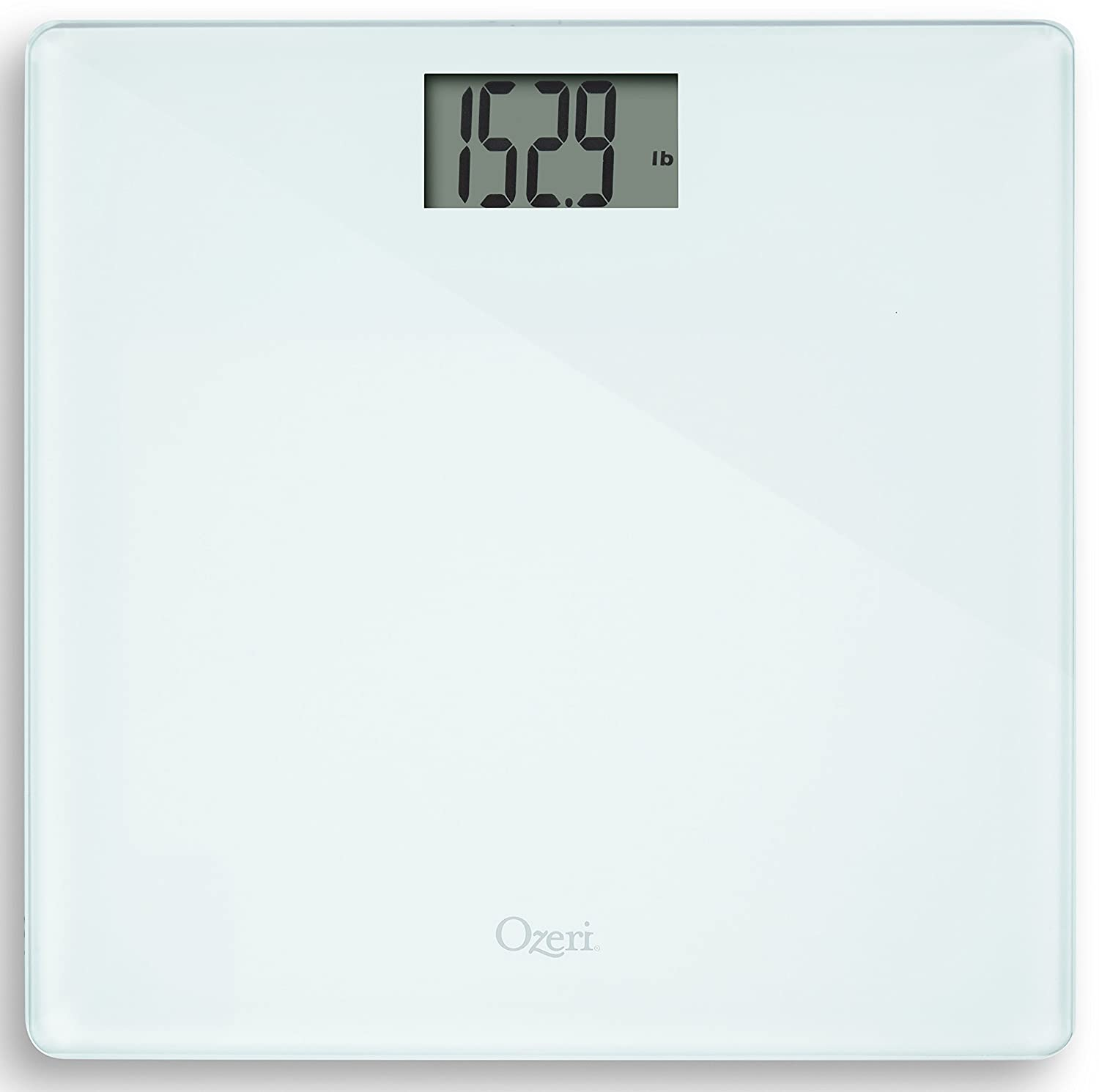 Ozeri Precision Bath Scale (440 lbs / 200 kg) in Tempered Glass, with 50 gram Sensor Technology (0.1 lbs / 0.05 kg) and Infant, Pet & Luggage Tare ZB18-W2