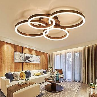 Modern Dimmbar LED Deckenleuchte Minimalistische Braun Gebu0026uuml;rstet  Lampeschirm Deckenlampe Innenbeleuchtung Fu0026uuml;r Schlafzimmer