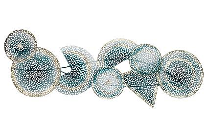 Decorazioni Da Parete In Metallo.Kunstloft Scultura Da Parete In Metallo Campo Quantico 120x40x5cm
