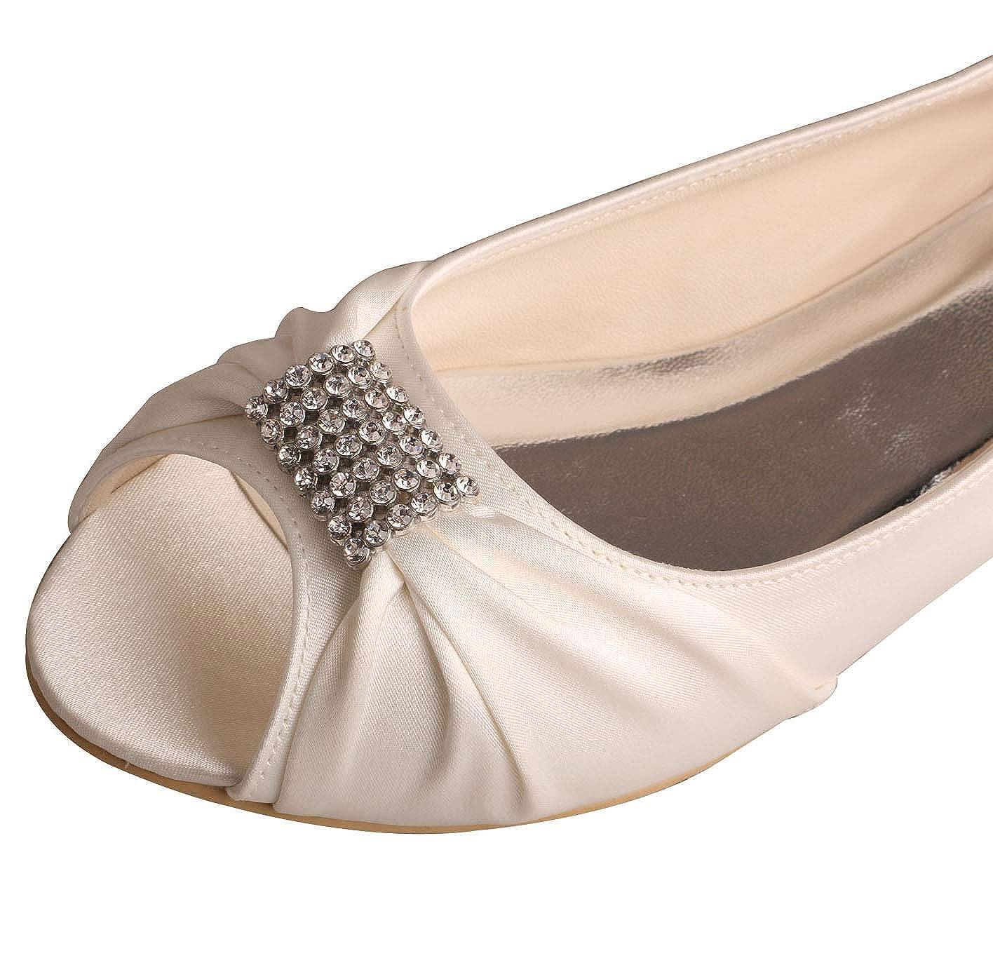 261ea544d5 SERAPH MW1361 Mujer satén pedrería bailarinas plana boda nupcial zapatos de  fiesta: Amazon.es: Ropa y accesorios