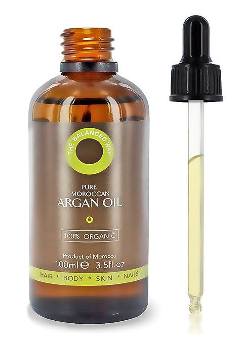Puro aceite de argán 100% orgánico, para el cabello, la piel, el ...