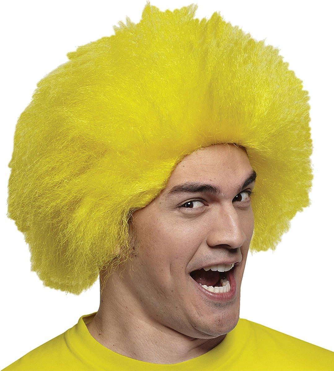 Disfraces para todas las ocasiones MR179532 peluca Diversi-n peluca amarilla: Amazon.es: Ropa y accesorios