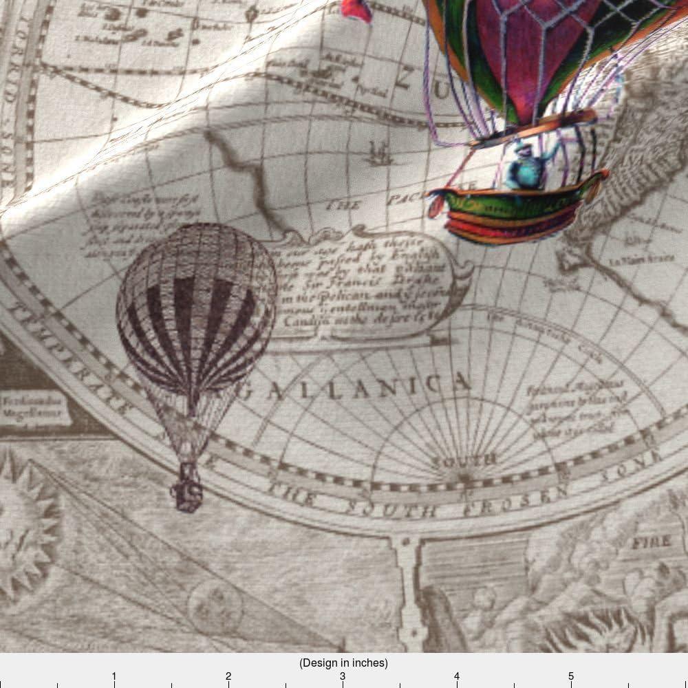 Vintage Airship Balloon Printed Fabric Panel Make A Cushion Upholstery Craft