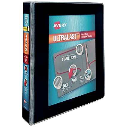 amazon com avery 1 5 ultralast 3 ring binder one touch slant