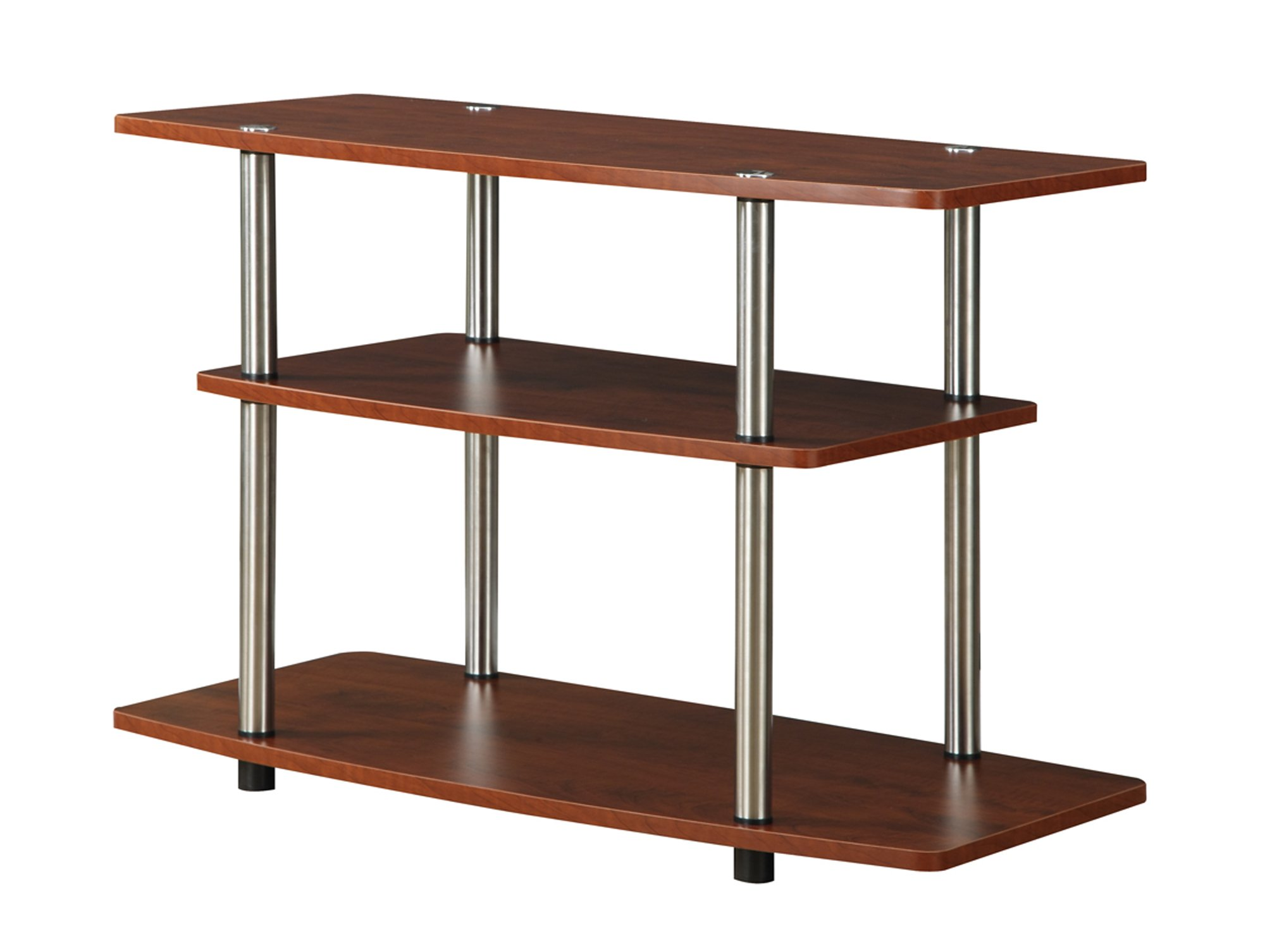 Convenience Concepts Designs2Go 3-Tier TV Stand for Flat Panel Television Up to 32-Inch or 80-Pound, Cherry