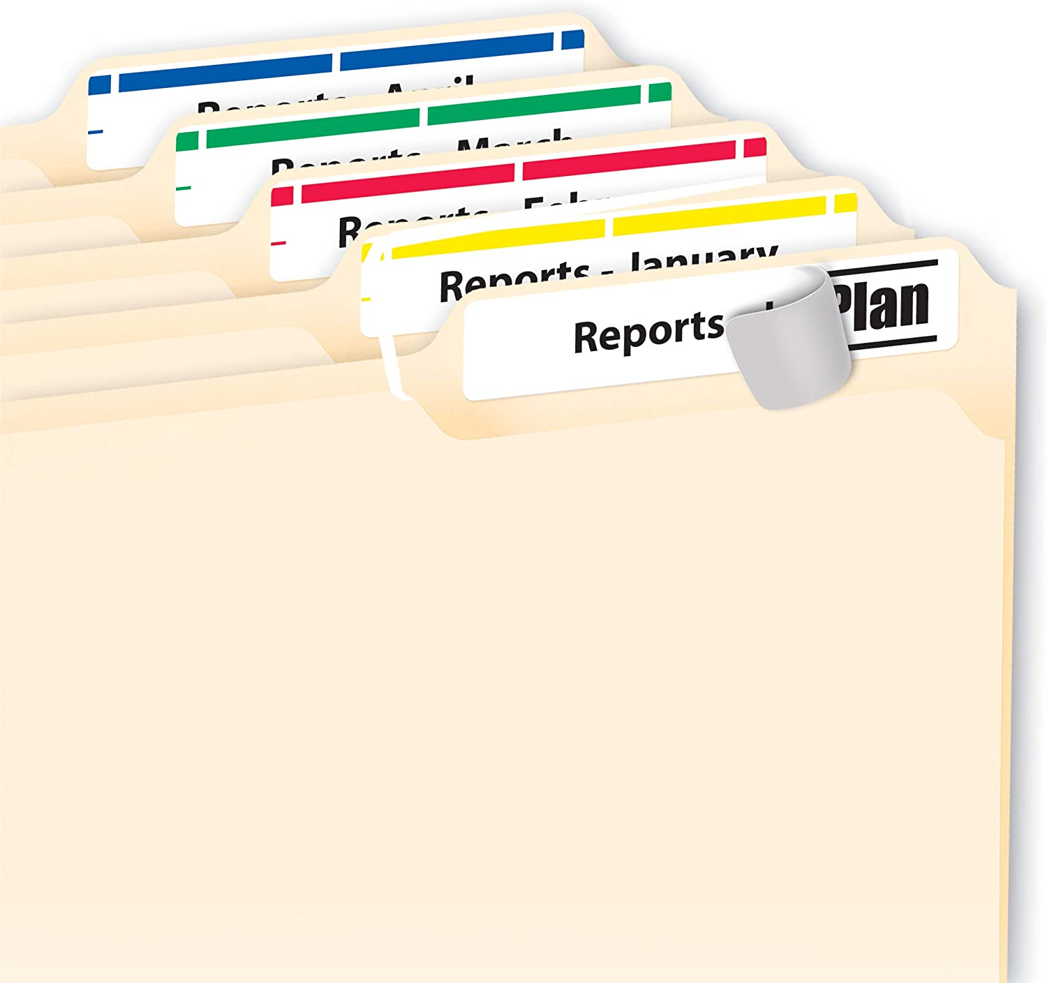 0.67 x 3.43 Inches 5266 10 Packs Avery File Folder Labels in Assorted Colors for Laser and Inkjet Printers with TrueBlock Technology