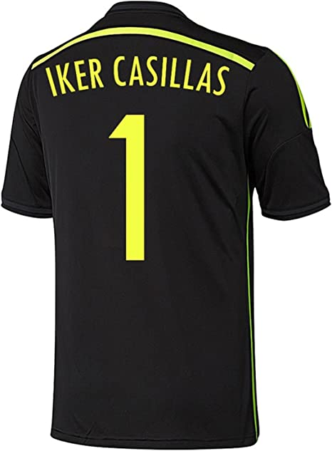 adidas IKER Casillas #1 España Camiseta 2da Copa Mundial 2014 (2XL): Amazon.es: Deportes y aire libre