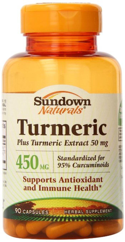 Sundown Naturals Turmeric 450 mg Capsules 90 ea (Pack of 8)