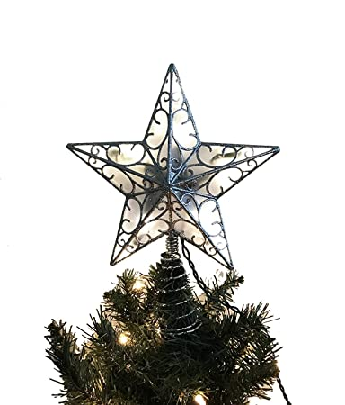 Image Unavailable. Image not available for. Color: Kurt Adler Christmas  Tree Lighted Star Tree Topper ... - Amazon.com: Kurt Adler Christmas Tree Lighted Star Tree Topper 11