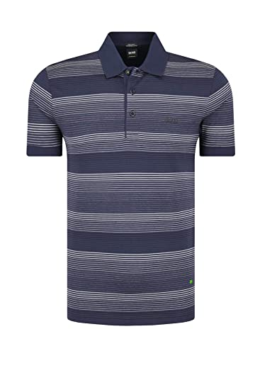 eb8fc5ac6 Amazon.com: Hugo Boss Men's Paddy Pro 3 Blue Striped Cotton Polo T ...