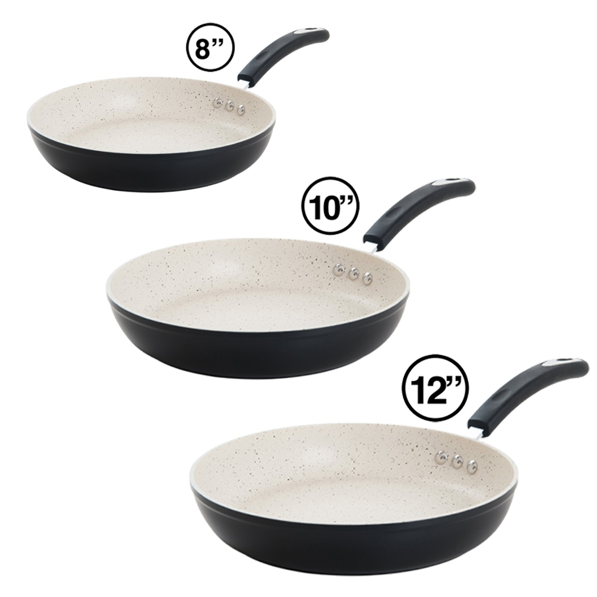 The Ozeri Stone Earth Frying Pan 3 Piece Bundle, with 100% APEO & PFOA-Free Stone-Derived Non-Stick Coating from Germany by  (Image #1)