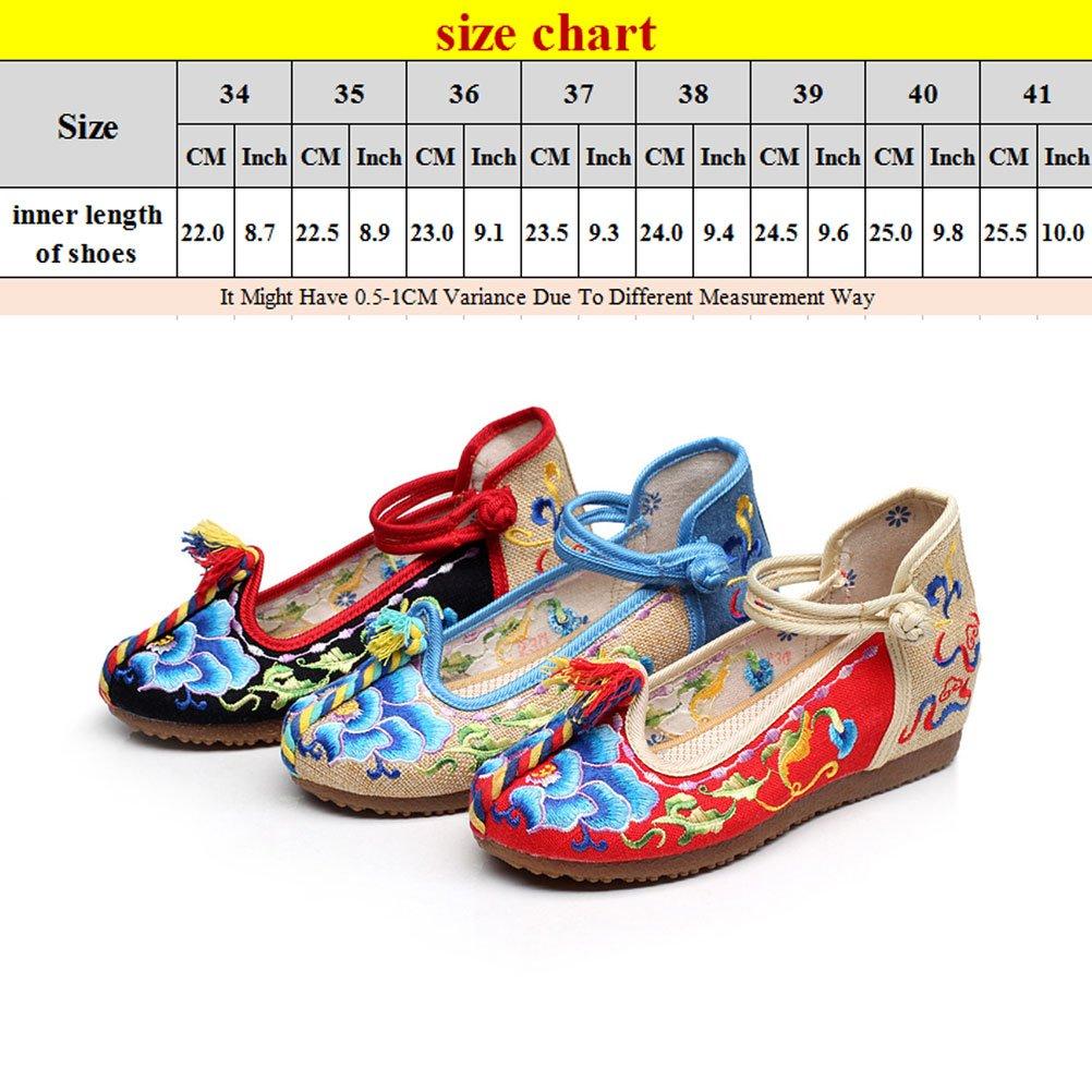 Chaussures Brodées Classiques Zhhlinyuan Belles Femmes Chaussures En Tissu Occasionnels 3 Couleurs xDSa3kt