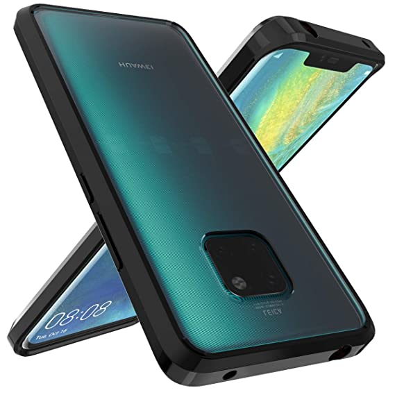 wholesale dealer 848e9 5db34 Huawei Mate 20 Pro Case, OUBA [Shock Absorbing] Air Hybrid Slim Thin  Shockproof Armor Anti-Drop Crystal [Clear] Back + TPU Bumper Protective  Case ...
