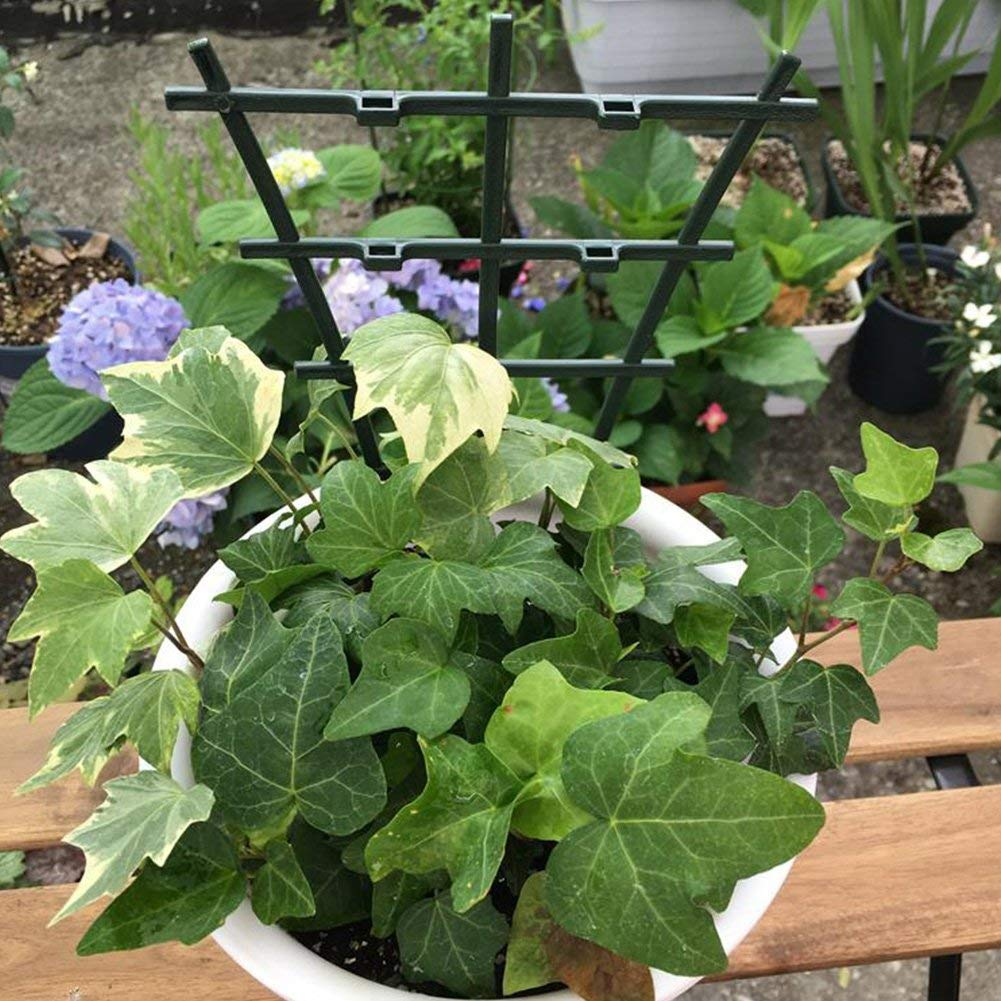 LouisaYork Soporte para Plantas de jardín, 4 enrejados de plástico ...