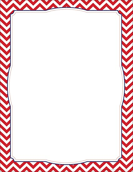 amazon com new chevron red border poster office products