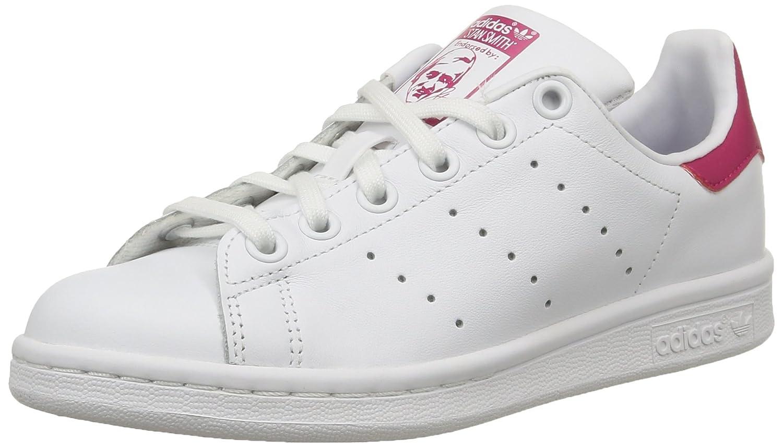 Adidas Stan Smith J - Zapatillas para niño 36 EU|Blanco (Footwear White/Footwear White/Bold Pink 0)