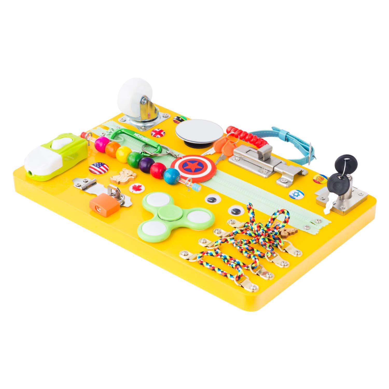 Montessori busyboard Activity Board Travel Occupied Board Montessori busyboard Wooden Latches Board,