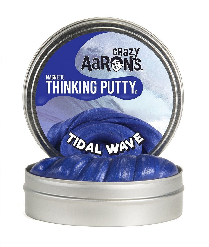BLUE TIDAL WAVE Super MAGNETIC Magnet Fidget Toy Thinking Putty Crazy Aaron's