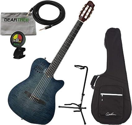 Godin ACS - Cuerdas de acero para guitarra multiac, color azul con ...