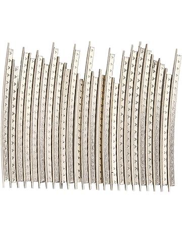 24 piezas de alambre para traste de guitarra, bajo de cobre, diapasón para guitarra