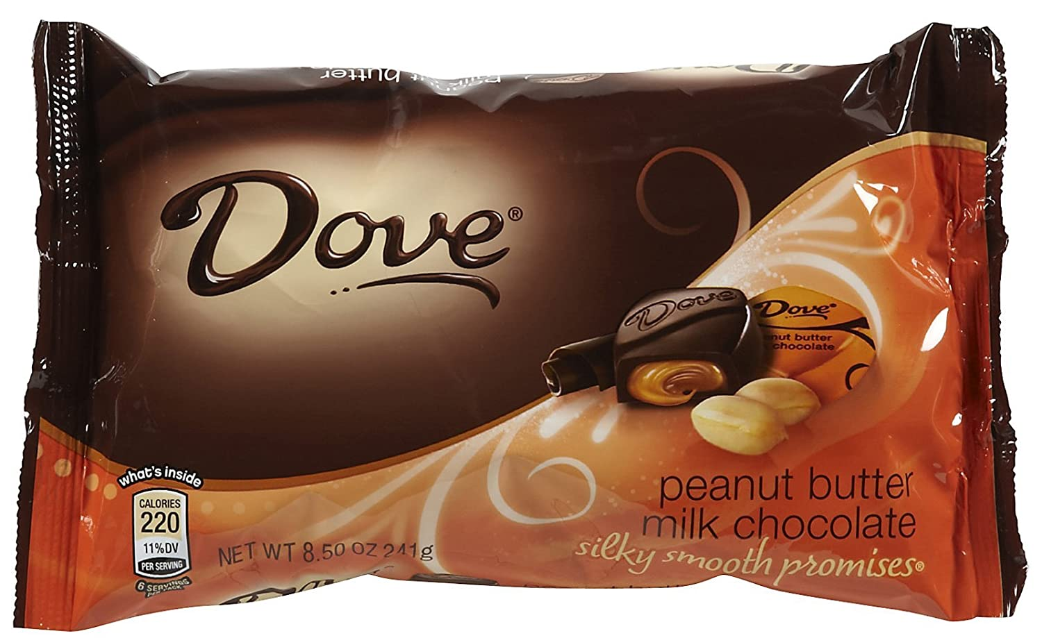 Amazon.com : Dove Chocolate Chocolate Miniatures - Peanut Butter ...