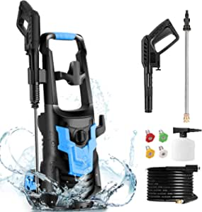 WHOLESUN 3600PSI Pressure Washer 2.6GPM 1900W Electric Power Washer with 4 Nozzles for Cleaning Cars, Driveways, Garden