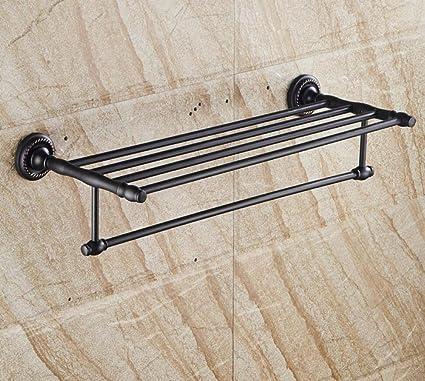 GL&G Porta-toallas retro negro, de estilo europeo Todos los accesorios de baño de