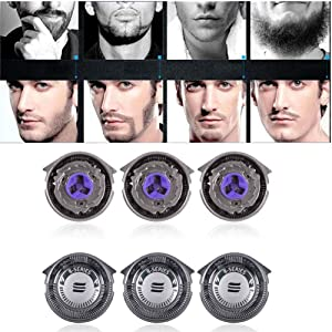 SH30/52 Compatible Premium Precision Blade Replacement Heads 3-Pack P-BladezTM Cooling Surface Technology for Philips Norelco Compatible 1000/3000 Series Electric Shavers Models