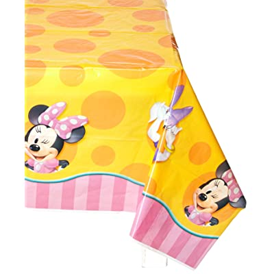 Hallmark Minnie Orange Table Cover: Toys & Games