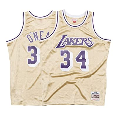 Amazon.com: Mitchell & Ness Shaquille ONeal NBA Los Angeles ...