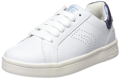 Geox J Djrock a, Zapatillas para Niñas, Blanco (White), 37 EU
