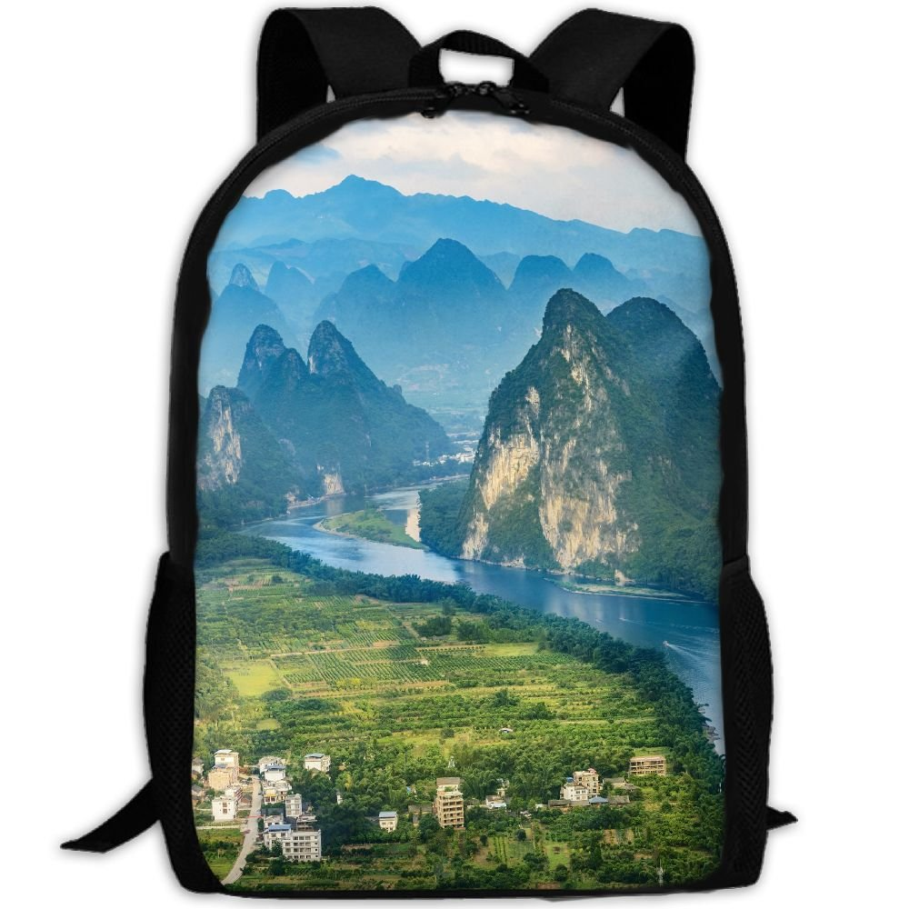 Mountains Double Shoulder Backpacks For Adults Traveling Bags Full Print Fashion