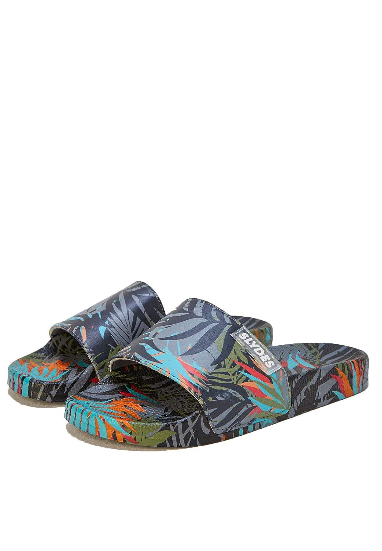 Slydes Cyber Mens Dark Slider Sandals
