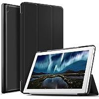 IVSO Lenovo Tab 4 10 Funda Case, Slim Smart Cover Funda Protectora de Cuero PU para Lenovo Tab 4 10 Tablet (Negro)