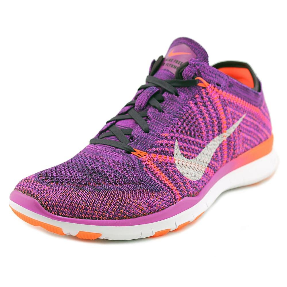 newest 22ce9 90022 Nike Free TR Flyknit Hyper Violet Womens Running Training Shoes Size 9.5