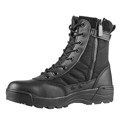 5d64f4d09dbba VFDB Men Military Tactical Combat Boots Lace up Desert Boots Side-Zip  Outdoor Hiking Boot
