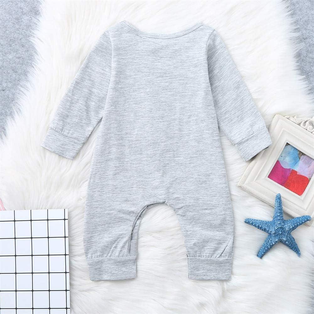 FELZ Mono Bebe Niña Niños, Body de Mameluco con Estampado de Estrellas de Manga Larga para bebés recién Nacidos 3 a 24 Meses Pijamas Enteros Color Solido: Amazon.es: Ropa y accesorios