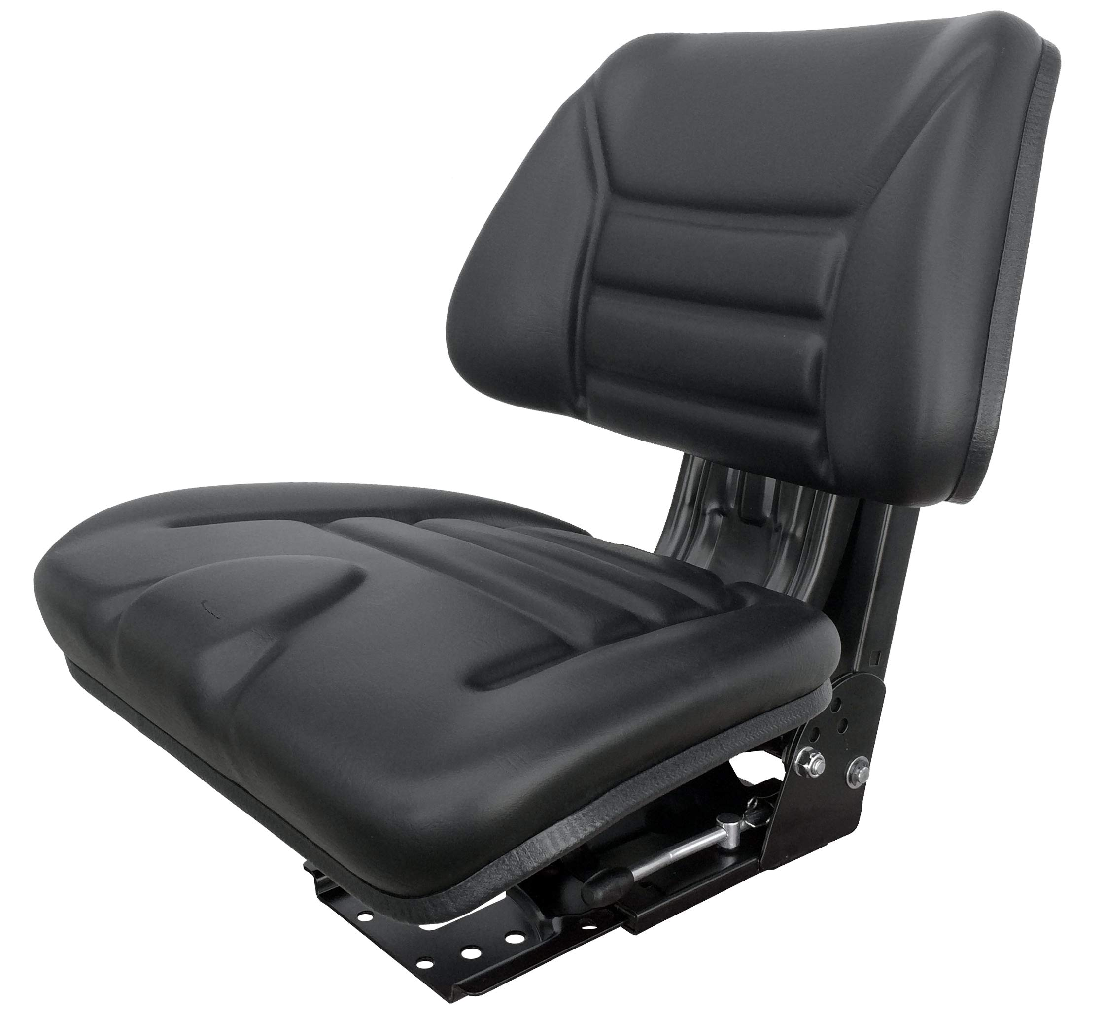 Star ECO 111 Black Universal Suspension Slide Adjustment Multi Angle Base Tractor Seat (Replacement for Several)