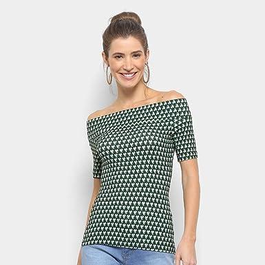 0a002c580 Blusa Colcci Ombro a Ombro Estampada Feminina - Verde - M: Amazon ...