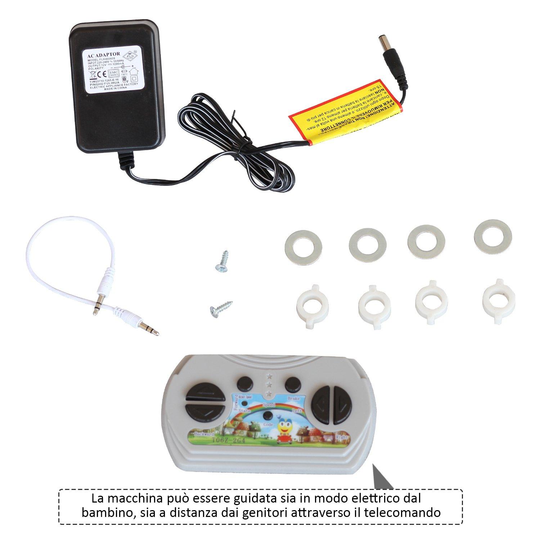 HOMCOM-Auto-Macchina-Elettrica-per-Bambini-con-Telecomando-12V