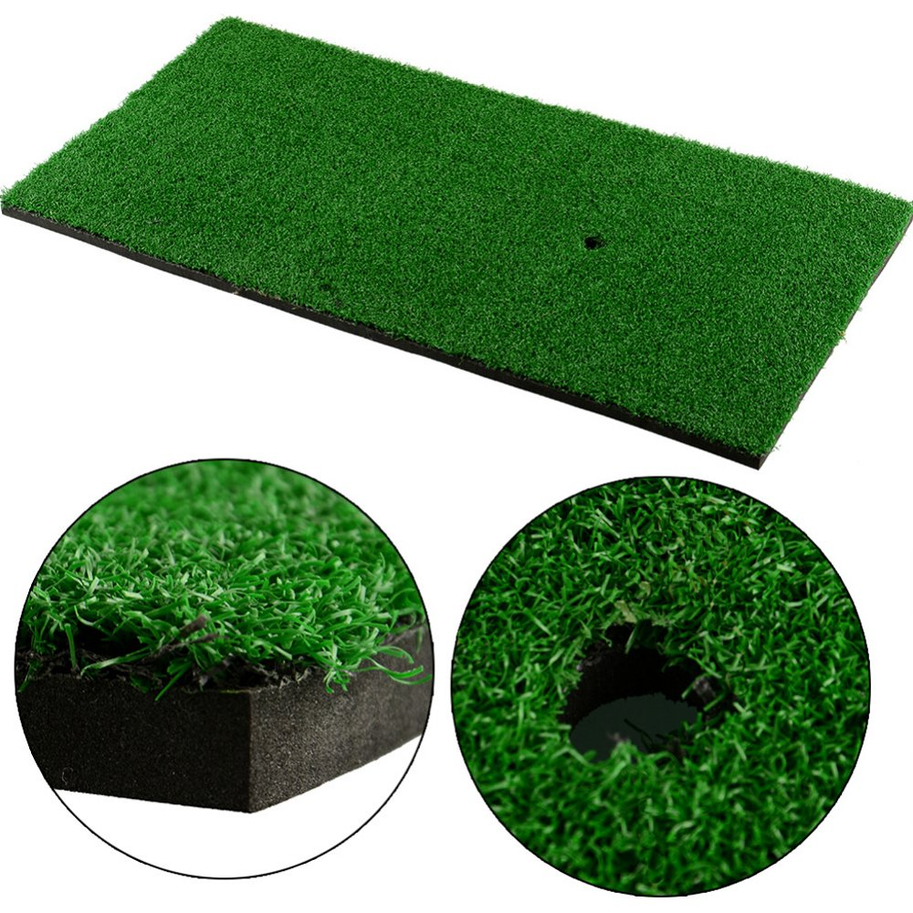 Foxcesd Golf Mat, Residential Golf Practice Hitting Mat Portable Driving/Chipping Indoor & Outdoor for Golf Exercise at Office, Home and Backyard Swing Training Aids, 12''x 24'' TEE NOT Included