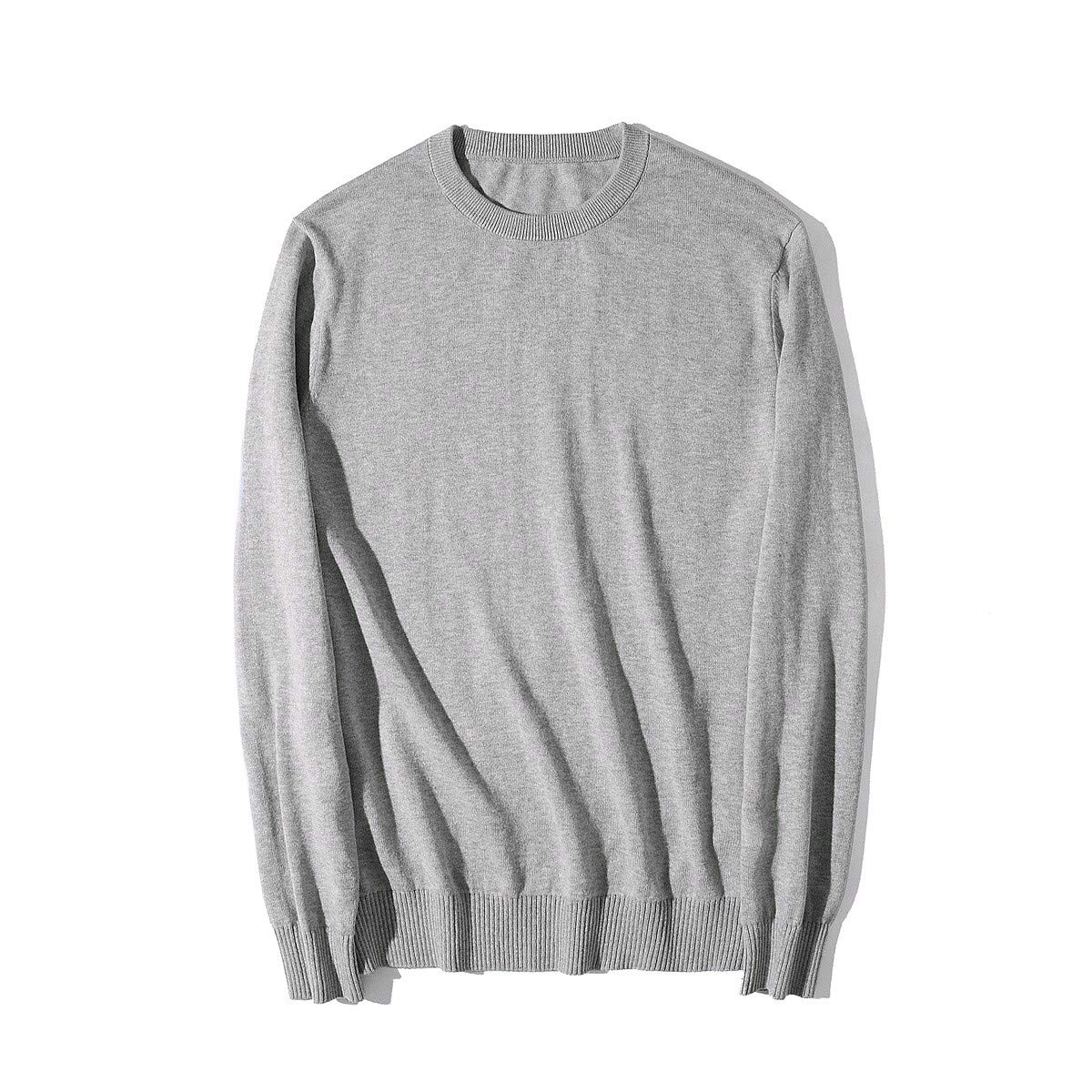 YUNY Mens His and Her Juniors Colortone Knitting Tshirt Sweater Light Grey XS