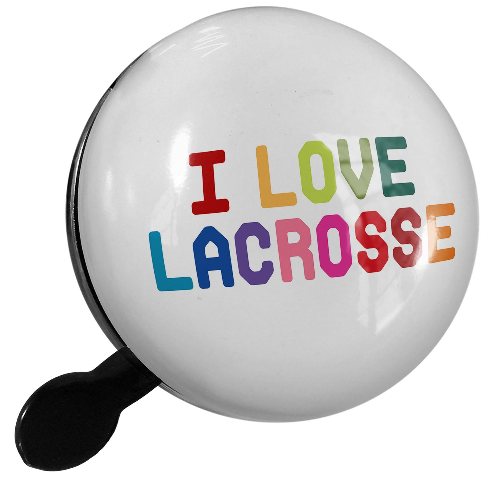 Small Bike Bell I Love Lacrosse,Colorful - NEONBLOND